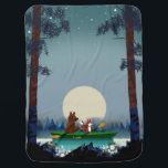 "Bear and Fox kayaking on a wild forest river Baby Blanket<br><div class=""desc"">Cute Bear and Fox kayaking on a wild forest river or skiing in the snow under the starry sky. Beautiful digital and watercolor illustration by myself at mermaid.fi. Perfect for anyone who loves nature and life in the wild. Note: As this model has been popular, I made a new version...</div>"