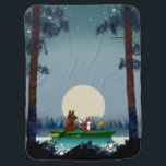 """Bear and Fox kayaking on a wild forest river Baby Blanket<br><div class=""""desc"""">Cute Bear and Fox kayaking on a wild forest river or skiing in the snow under the starry sky. Beautiful digital and watercolor illustration by myself at mermaid.fi. Perfect for anyone who loves nature and life in the wild. Note: As this model has been popular, I made a new version...</div>"""