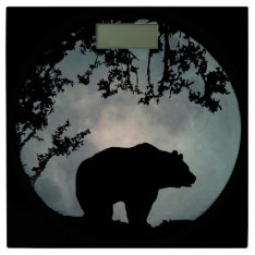 Bear And Full Moon Bathroom Scales at Zazzle