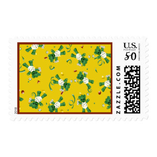 Bear and Green Tractor  Baby Shower Postage