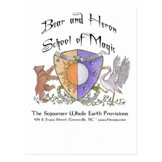Bear and Heron School of Magic Postcard