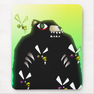 Bear and Hive Mouse Pad