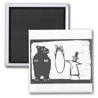 Bear and Hoop Magnet