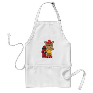 Bear and Hydrant Firefighter T-shirts and Gifts Apron