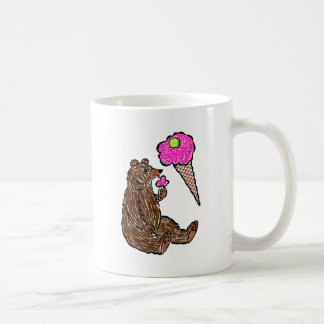 Bear and icecream coffee mug