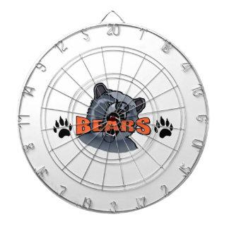 BEAR AND PAW PRINTS DARTBOARD