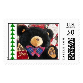 bear and quilt for zazzle stamp