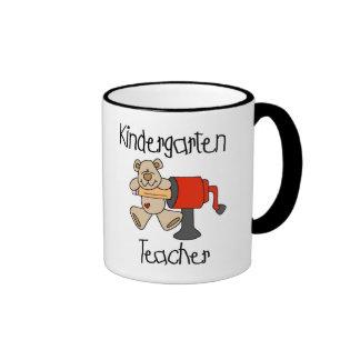 Bear and Sharpener Kindergarten Teacher Ringer Mug