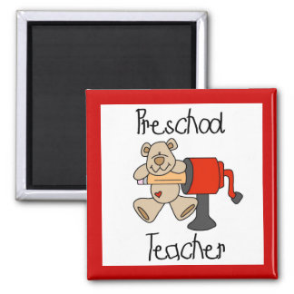Bear and Sharpener Preschool Teacher Magnet