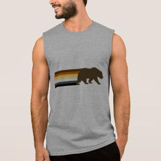 Bear and the Bear Pride Flag stripes Sleeveless Shirt