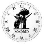 Bear and tree, Madrid Wall Clock