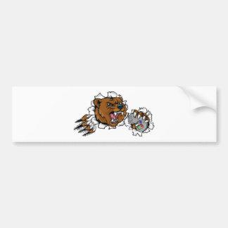 Bear Angry Esports Mascot Bumper Sticker