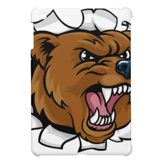 Bear Angry Mascot Background Breakthrough iPad Mini Cover