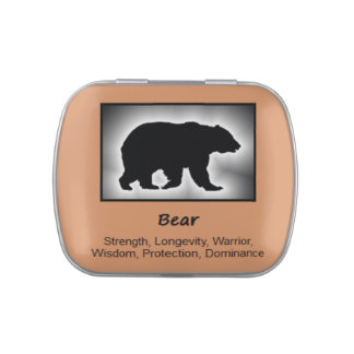 Bear Animal Spirit Meaning Collectible Jelly Belly Candy Tins