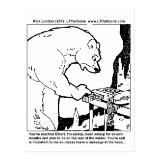 Bear Answering Machine Funny Gifts Tees Cards Etc