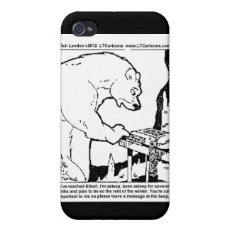 Bear Answering Machine Funny Gifts Tees Cards Etc iPhone 4 Covers