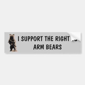 Bear arms Grizzly Bear Bumper Sticker