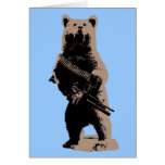 Bear arms Grizzly Bear Greeting Card