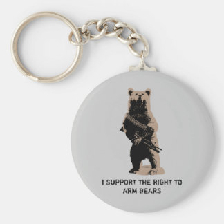 Bear arms Grizzly Bear Key Chains