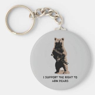 Bear arms Grizzly Bear Keychain