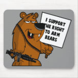 Bear arms Grizzly Bear Mouse Pads