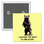 Bear arms Grizzly Bear Pins