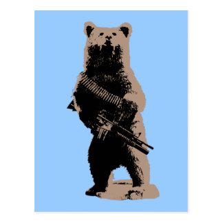 Bear arms Grizzly Bear Post Card