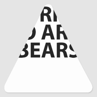 Bear arms Grizzly Bear Tee Shirt.png Triangle Sticker