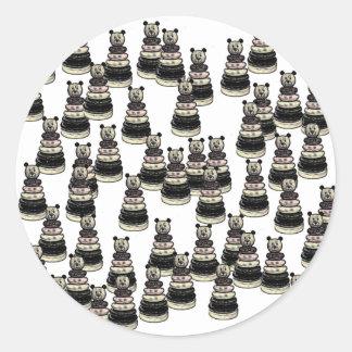 Bear Army Classic Round Sticker
