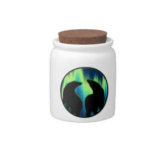 Bear Art Candy Jar Northern Lights Bear Gifts