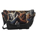 Bear Art Commuter Bag Dancing Bears Messenger Bag