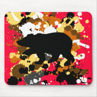 Bear art mouse pad