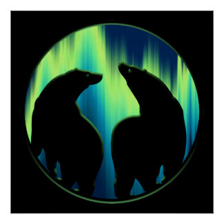 Bear Art Print Tribal Bear Poster Print LG
