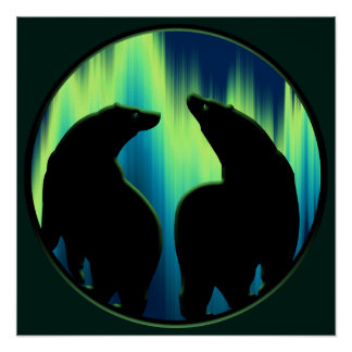 Bear Art Print Tribal Bear Poster Print SM