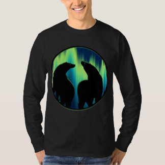 Bear Art Shirt Northern Lights Bear Shirts
