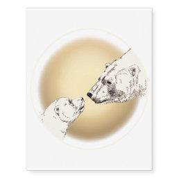 Bear Art Temporary Tattoo Polar Bear Skin Art