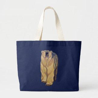 Bear Art Tote Bag Wildlife Pola Bear Shopping Bag