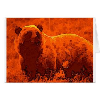 Bear Artwork Greeting Card