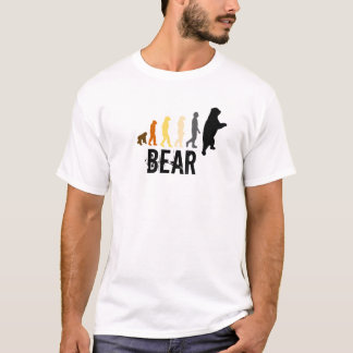 Bear/Ascent of Man Bear Colors Black Claw Back T-Shirt