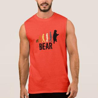 Bear/Ascent of Man Bear Colors Black Claw Back Sleeveless T-shirts