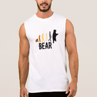 Bear/Ascent of Man Bear Colors Black Paw Back Sleeveless T-shirt