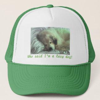 Bear asleep trucker hat