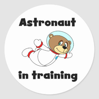 Bear Astronaut in Training Tshirts and Gifts Sticker