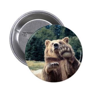 Bear Attack! 2 Inch Round Button