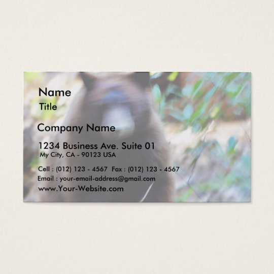 Bear Attack Business Card