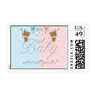 Bear Baby Gender Reveal Party Postage