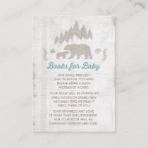 Bear Baby Shower Book Request Card  Adventure Bear