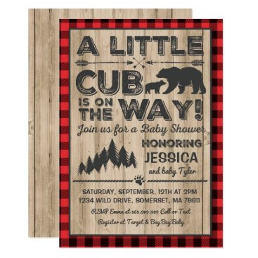 Toddler & Baby themed Bear Baby Shower Invitation Adventure Baby Shower
