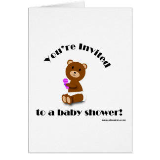 Bear Baby Shower Invite Greeting Cards