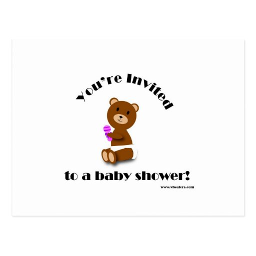 Bear Baby Shower Postcards